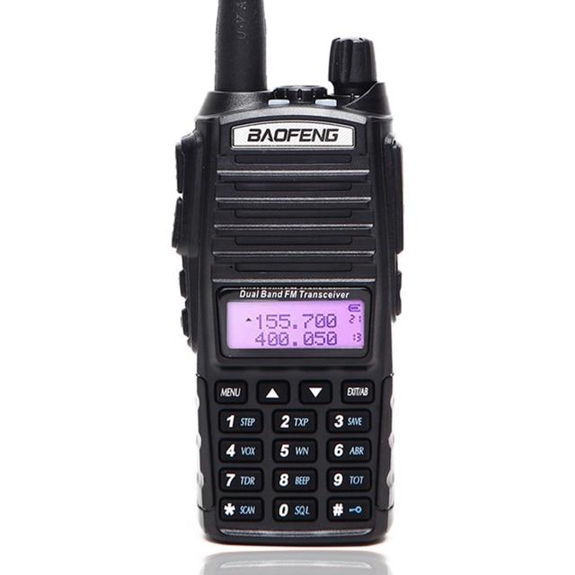 BaoFeng UV 82 5 واط اسلكية تخاطب المزدوج الفرقة BaoFeng UV82 radi128ch مضيا المزدوج عرض مزدوج ساعة لراديو هام اتجاهين