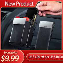 Baseus sacs de rangement de voiture en cuir siège de voiture organisateur universel pochette de téléphone portable aimant collecte poche Auto intérieur accessoires