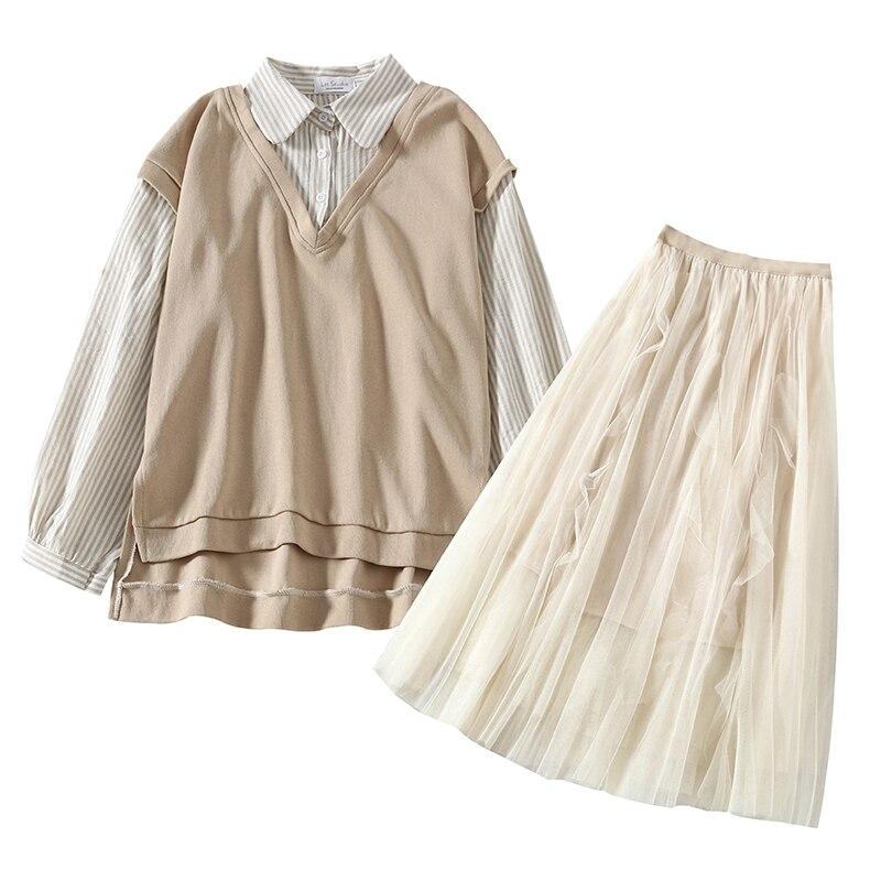 Merry Pretty-Conjunto de 2 piezas formado por sudadera y falda de malla, 2 uds.