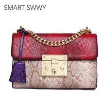 Luxury Brand Women Bag Serpentine Chain Handbags Bags Designer Leather Shoulder For 2019 Crossbody Party