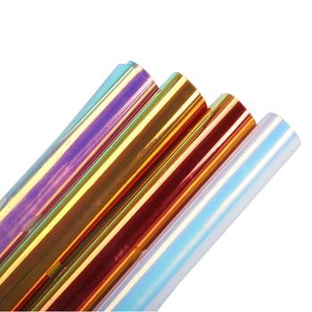 SUNICE Neo Chrome Heat Transfer Vinyl HTV Iron On Heat Press Vinyl Clothing Decoration 50cm*300cm(20inch*9.8ft) Easy to make