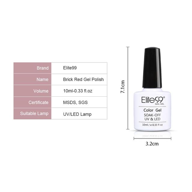 Elite99 Nagellack Nagel Gel Tränken weg vom LED UV Hybrid Nagel Primer Gel Lack Rot Rosa Nagel Make-Up 10ml UV Gel Nail art Lack