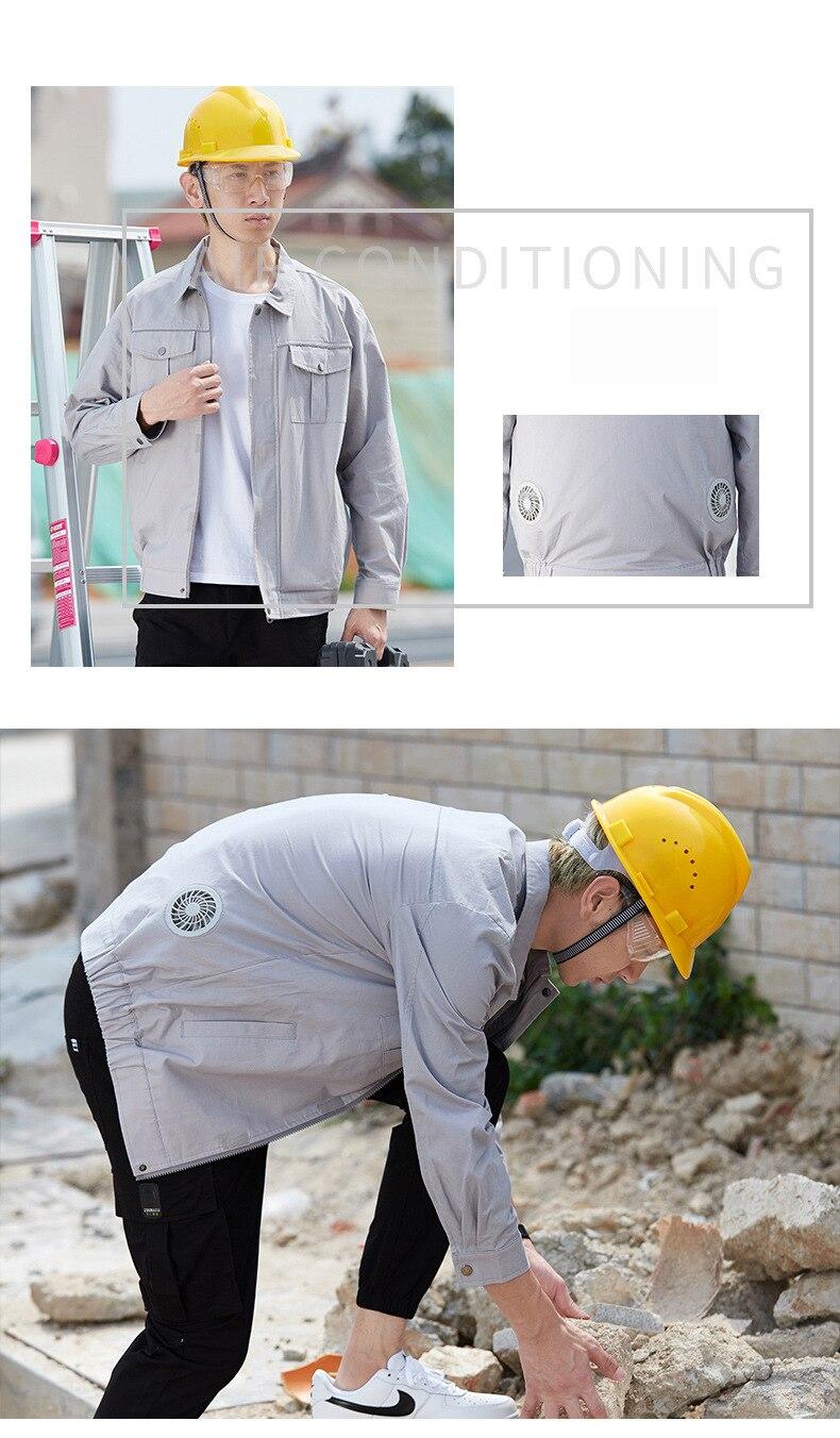 sun-protcetive casaco de construção roupas de trabalho pc124