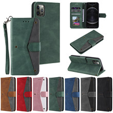 Stitching Calf Pattern Case For Samsung Galaxy A12 A52 A72 A01 A21 A31 A41 A51 A71 A42 A32 Card Flip Leather Cover Mobile Bag