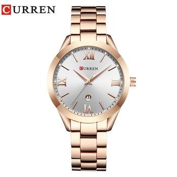CURREN Gold Watch Women Watches Ladies 9007 Steel Women's Bracelet Watches Female Clock Relogio Feminino Montre Femme 11