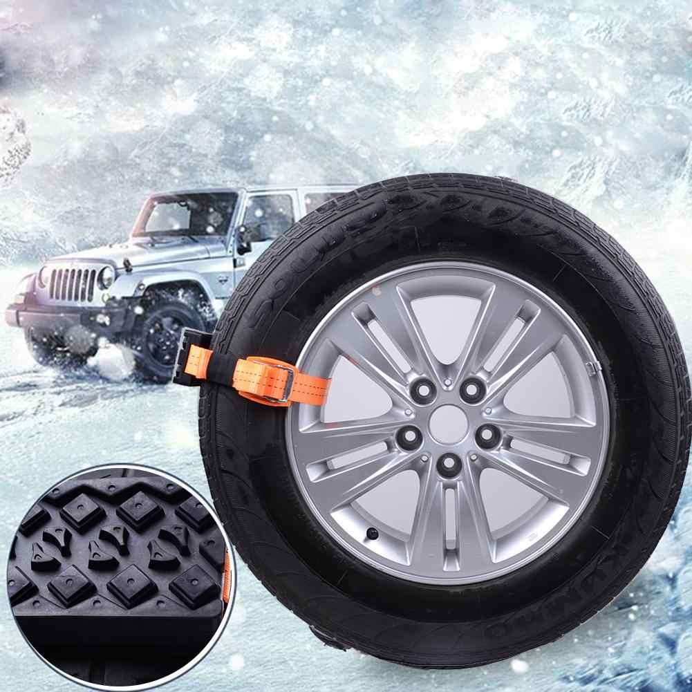2Pcs Winter Auto Rad Anti-slip Gummi Block Reifen Reifen Schnee Schlamm Kette Gürtel 2019