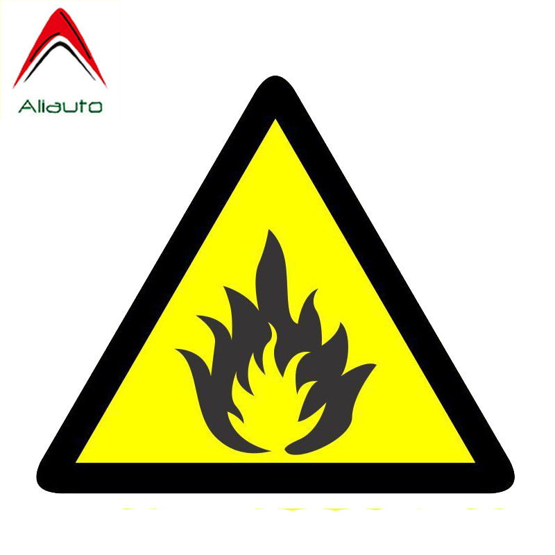 Aliauto Funny Car Sticker Personality Warning Fire Reflective Decal <font><b>Accessories</b></font> PVC for Mazda Cx <font><b>5</b></font> <font><b>Gti</b></font> <font><b>Vw</b></font> <font><b>Golf</b></font> <font><b>5</b></font> Logan,14cm*12cm image