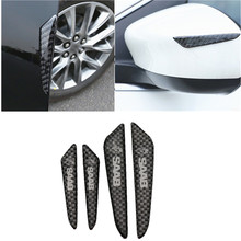 4 pçs porta do carro anti-colisão pára-choques tira guardas lado protetor adesivo para saab 9-3 9-5 93 900 9000
