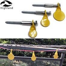 3 желтые пластины разного размера для стрельбы с винтами