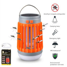 Portable lantern Mosquito Killer Light with USB rechargeable battery waterproof searchlight Mobile Flashlight Outdoor Camping