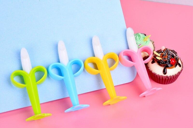 bebê banana dentição brinquedos infantil cuidado oral