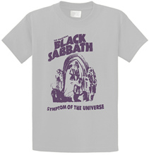 T Shirt Online Store Black Sabbath Symptome Of The Universe Look Vintage MenS Design O-Neck Short-Sleeve Shirts