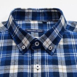 Image 5 - Chemise à carreaux, décontracté coton, chemises pour affaires, ample à manches longues, vêtements de marque masculine Plus Zise 6XL 7XL 8XL 9XL 10XL, 100%