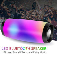 Portable Bluetooth Speaker Wireless Bass Column Waterproof Outdoor USB Speakers Support AUX TF Subwoofer LED altavoz bluetooth