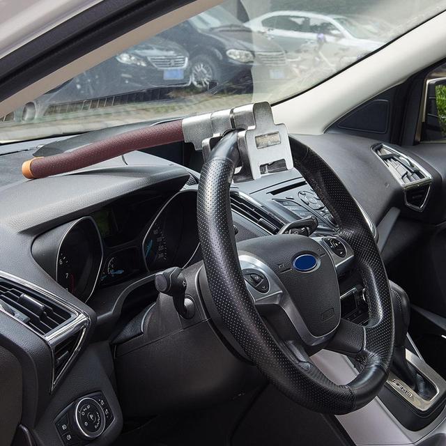 Evrensel araba kilidi araç araba üst montaj direksiyon kilidi Anti hırsızlık güvenlik anahtarlı kilit hırsızlık önleme cihazları