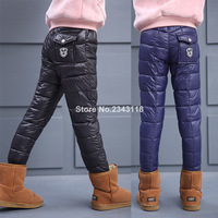 The Boys And Girls Winter Children Pure Warm Hand Wear Trousers Of Cotton Thickened Plug Pant 4 12 Ages Free Shipping