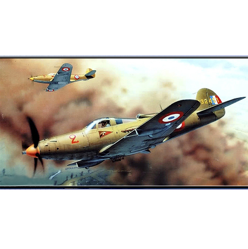 1:32 P-39 Fighter Aircraft DIY 3D Paper Card Model Building Sets Construction Toys Educational Toys Military Model