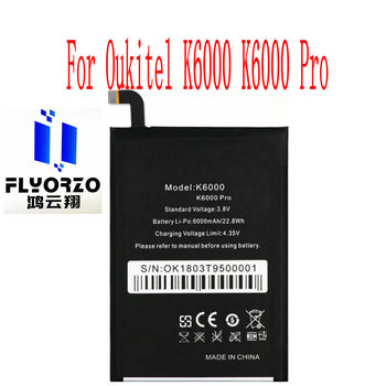 New High Quality 6000mAh K6000 K6000 pro Battery For Oukitel K6000 K6000 pro Mobile Phone image
