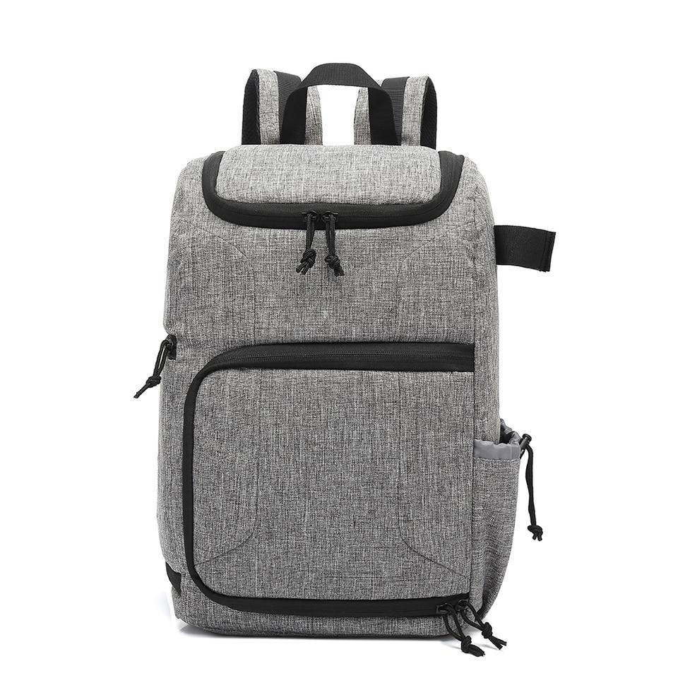 DQJKL Camera Backpack Camera Backpack Waterproof Photography Bag Large Capacity Multifunctional Camera Backpack Camera Bag Color : Khaki, Size : 30x19x42cm