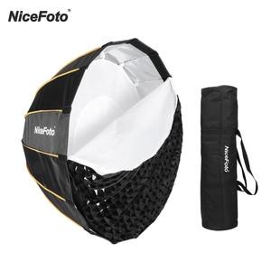 Светодиодный софтбокс NiceFoto с функцией быстрой установки для зонта, студийный софтбокс + сумка для переноски сетки для Aputure 120D 120D II, светодиод...