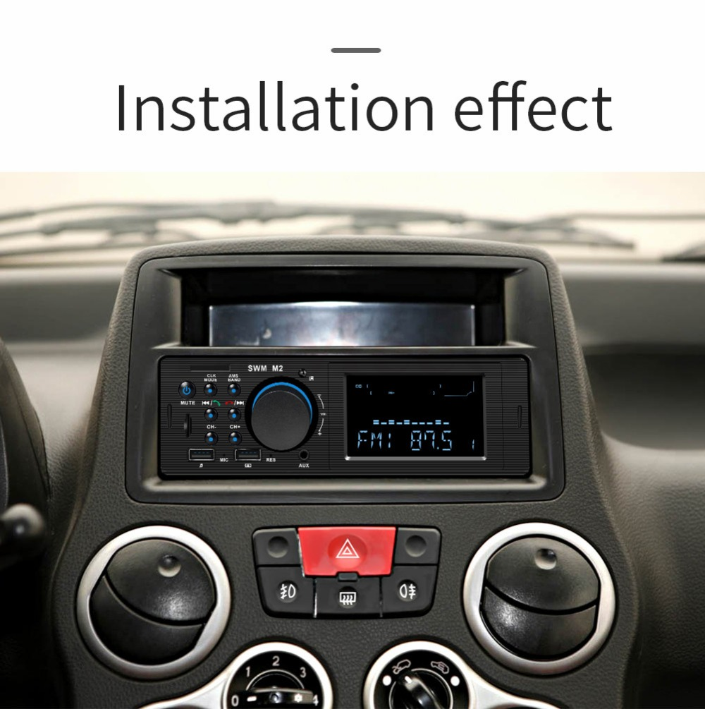 Bluetooth FM AUX Mp3 Bluetooth Car Radio Stereo Receiver 1 Din Auto Cars Audio Modulator Central Multimedia Cassette player (31)