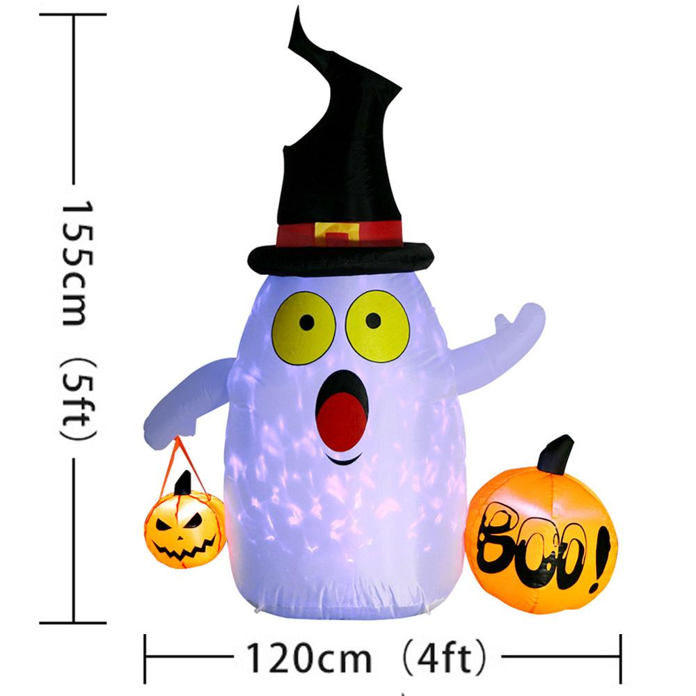 Image 5 - OurWarm Halloween Inflatable Pumpkin Outdoor Scary Decoration Halloween Party Inflatable Blow in Pumpkin Up Inflatable Witch-in Party DIY Decorations from Home & Garden