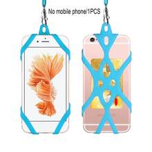 Phone Lanyard Holder Case Cover Universal Silicone Cell Phone Neck Strap Necklace Sling For Smart Mobile phone(China)