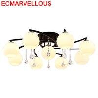 Lâmpada de iluminação para sala estar deckenleuchte lampen cristal moderno do vintage plafondlamp plafonnier lampara techo luz teto Luzes de teto     -