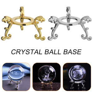 1PC Metal Resin Crystal Ball Base Globe Stone Holder Sphere Pedestal Display Fixed Stand Seat Home Decor Desktop Ornament Crafts