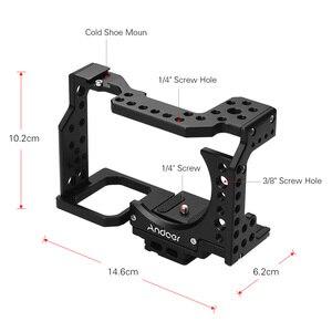 Image 5 - Andoer هيكل قفصي الشكل للكاميرا فيلم فيديو فيلم صنع استقرار الباردة حذاء تصاعد محول لسوني A7II/A7III/A7SII/A7M3/A7RII/A7RIII