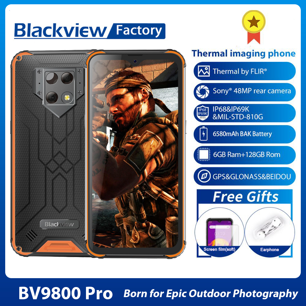 Blackview BV9800 Pro First Global Thermal imaging Helio P70 Smartphone Android 9.0 6GB+128GB Waterproof Rugged Mobile Phone 1