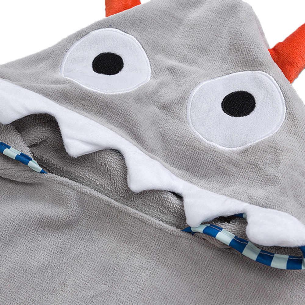 CYSINCOS dzieci Cute Cartoon płaszcz z kapturem dzieci Halloween ręcznik miękkie Boys Baby dziewczyny ręcznik kąpielowy maluch prysznic Robe