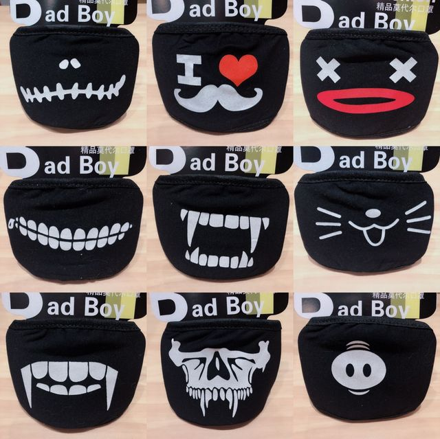 20 Styles Black Cotton Mouth Mask Unisex Teens Anti-Dust Mask Anime Mask Fashion Health Face Mouth Mask 5