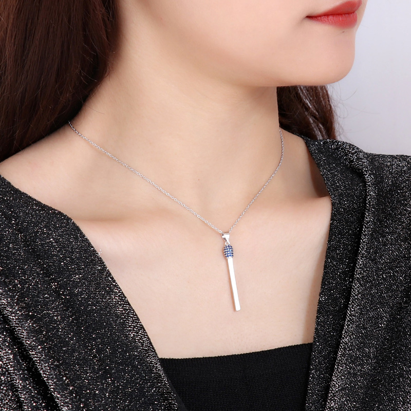 2020 Creative New Match Necklace Clavicle Chain Three-dimensional Stick Pendant Women Necklace Jewelry Accessories