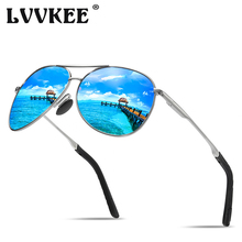 LVVKEE Fashion Men Sunglasses pilot Polarized Lens Brand Dri