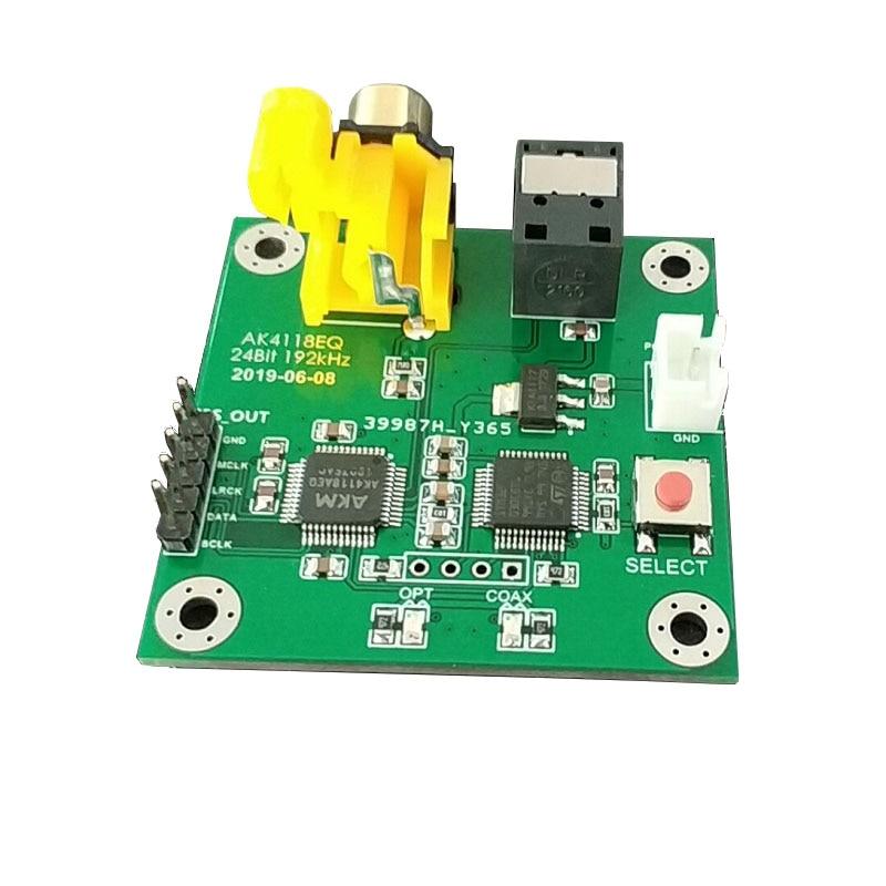 Nouvelle fibre coaxiale de carte récepteur de contrôle doux AK4118AEQ à la sortie I2S 24Bit192kHz