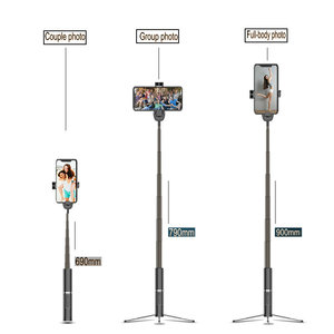 Image 4 - Drahtlose Bluetooth Selfie Stick Faltbare Mini Stativ Erweiterbar Einbeinstativ Mit Bluetooth Fernbedienung Für IOS Android Handys Stativ
