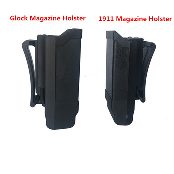 цена на Tactical Mag Holder CQC Stack Magazine pouch Holster for Glock 9mm Caliber Magazine or 1911 Caliber