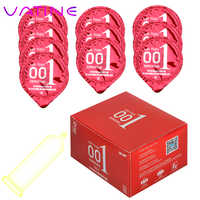 VATINE 10 Pieces/Box Ice Heat Touch Sex Toys for Men Sex Products Hyaluronic Acids Condom 0.01 Natural Latex Ultra Thin