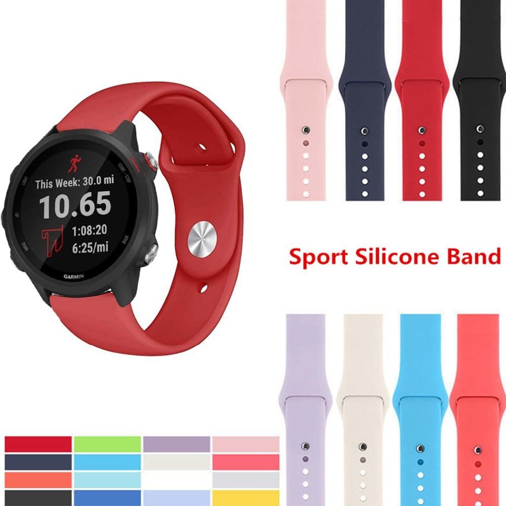 18MM 20MM 22MM Wrist Silicone Strap For Garmin Vivoactive4 4 4s Smart Watch Band Bracelet For Garmin Vivoactive 3 Straps Correa