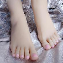 36 sexy High quality real Female Foot mannequin Silicone Photography Silk Stockings Jewelry Model soft Silica gel 2PC/lot  C728