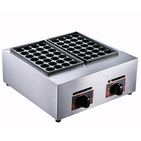 Octopus pellets machine Gas double board automatic octopus burning machine Street food making machine Fish ball snack