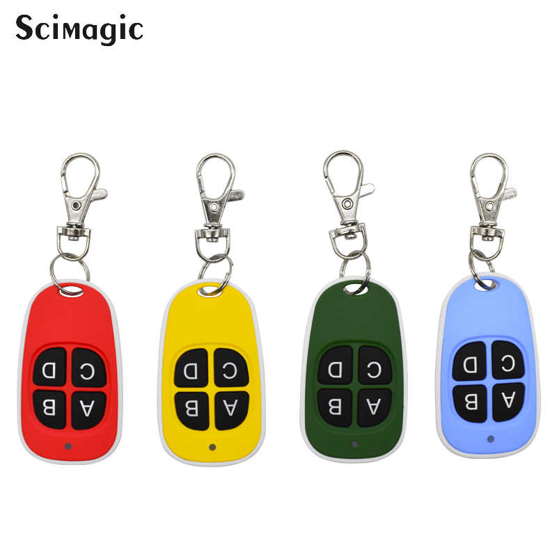 cloning Remote garage gate door control copy clone 433.92mhz universal fixed code controller Opener Command keychain for barrier