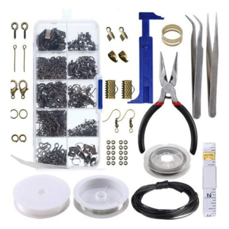 Handcrafted Jewelry Tools Set DIY Necklace Bracelet Earrings Keychain Making Accessories