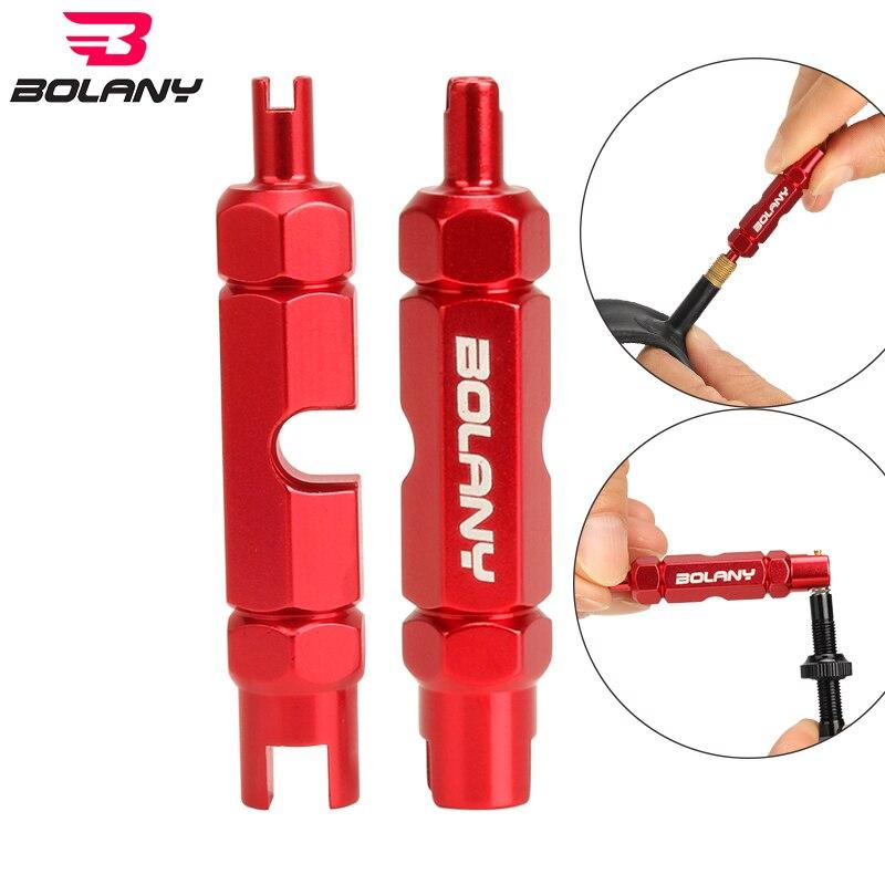 Bolany bisiklet lastiği meme anahtarı çok fonksiyonlu vana çekirdek aracı çift kafa taşınabilir kaldırma sökme anahtarı bisiklet tamir