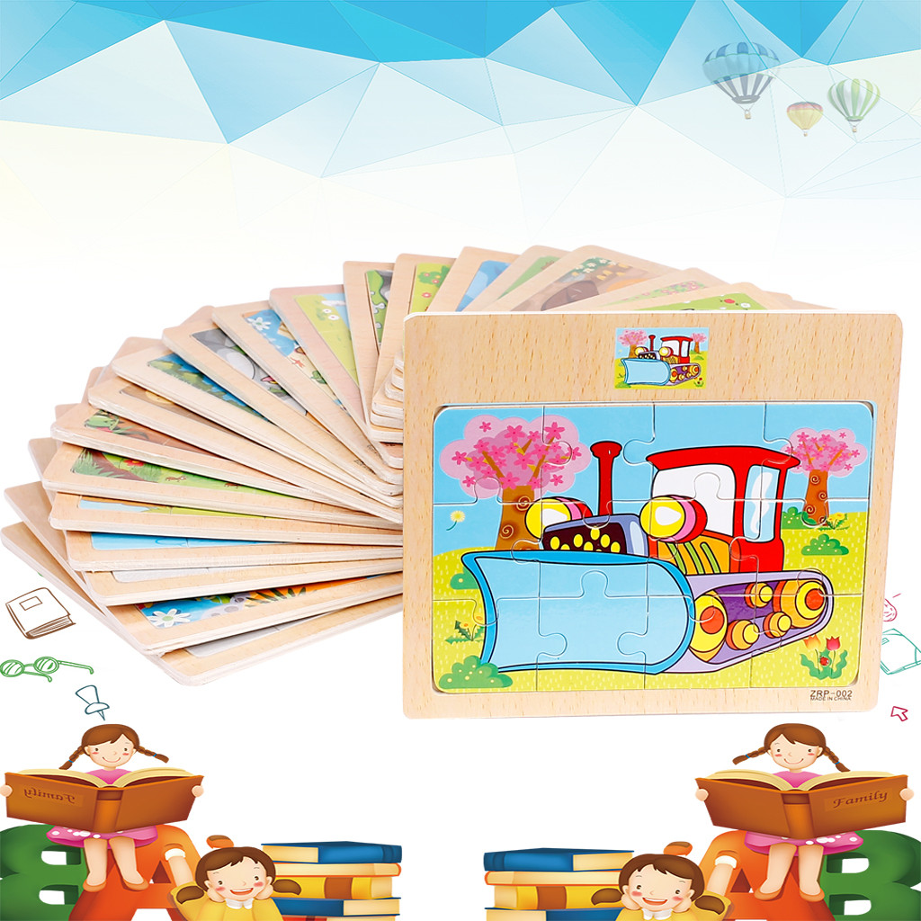 Permalink to Learning Education Puzzles Wood Jigsaw Toys For Children Cartoon Animal Cute Traffic Baby Birthday Gift Pluzzle Toy Y107