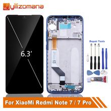 цена на Original LCD Touch Screen For Xiaomi Redmi Note 7 10-Touch LCD Display with Frame For Redmi Note7 Pro Replacement Repair Parts