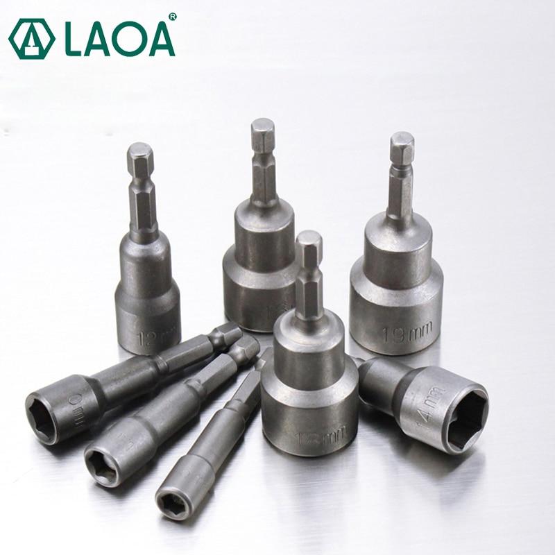LAOA שקעי משושה מגנטי חשמלי שקע ביטים 6-19mm
