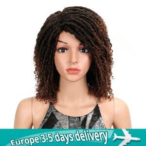"MAGIC Hair Soft Short Synthetic Wigs For Black Women 14""Inch High Temperature Fiber Dreadlock Ombre Burg Crochet Twist Hair(China)"
