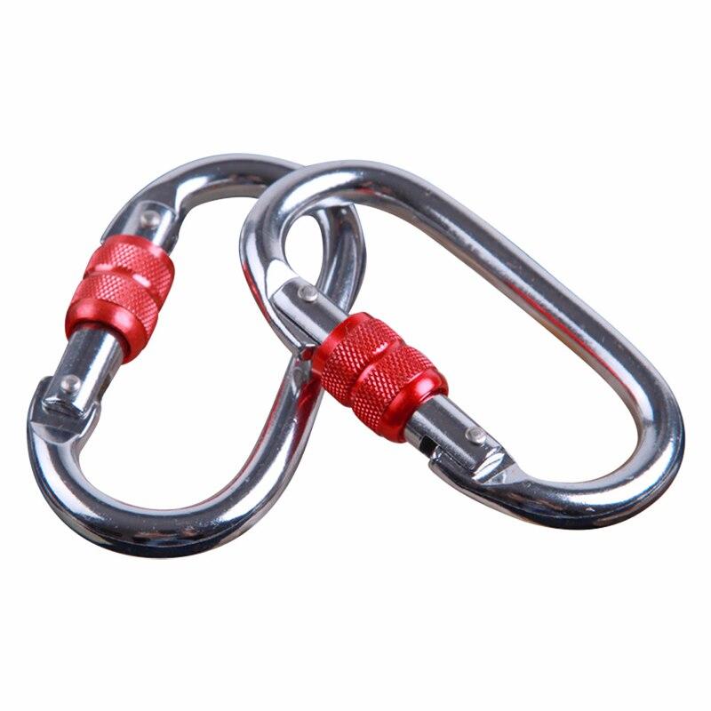 1 ensemble d'accessoires de hamac de Yoga aérien volant robuste (2 * mousquetons + 1 * descendeur d'anneau + 1 * pivot de cardan + 1 * chaîne de marguerite) - 3